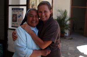 Madre Elvira with Juanita who adores her