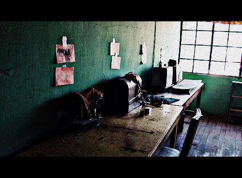 Sewing room at Buen Pastor