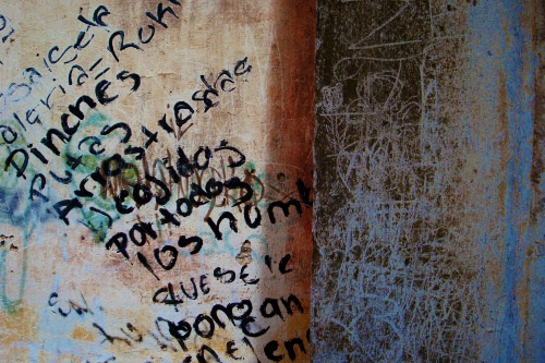 Pozos wall of obscenities