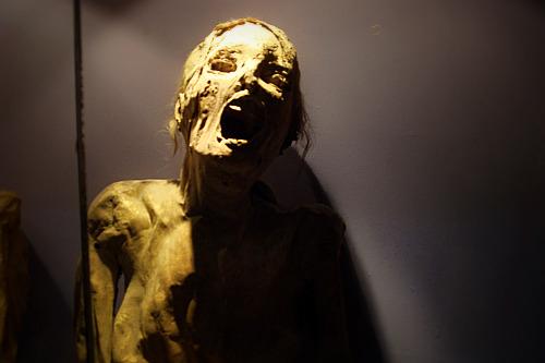 Mummy museum in Guanajuato, Mexico